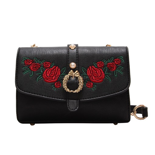 Luxury Style Solid Color Rose Crossbody Bag
