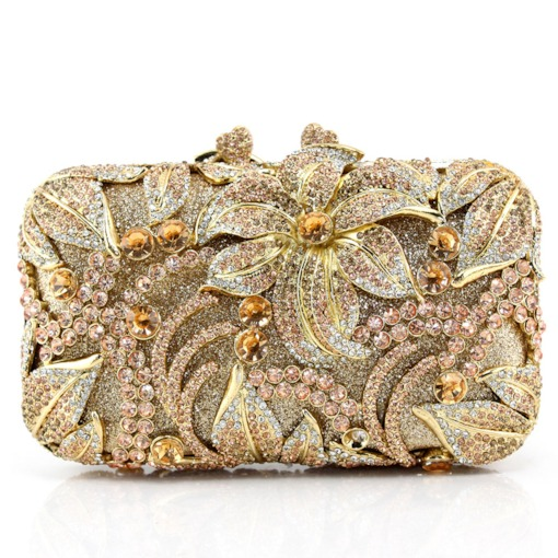 Luxury Artwork Rhinestone Women Clutches