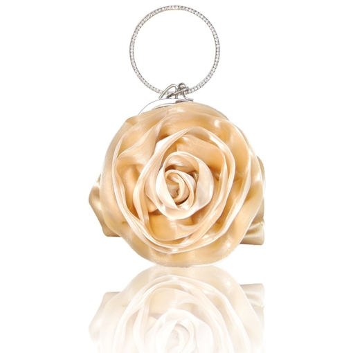 Vintage Rose Shaped Clutch