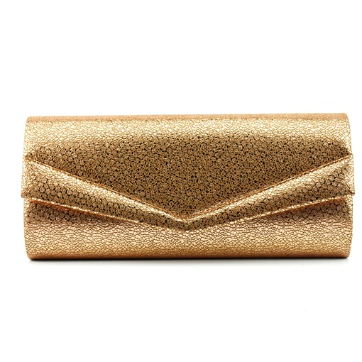 Modern Style Synthetic Leather Magnetic Snap Clutch