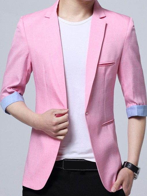 Linen Thin Slim Fit Leisure Men's Blazer