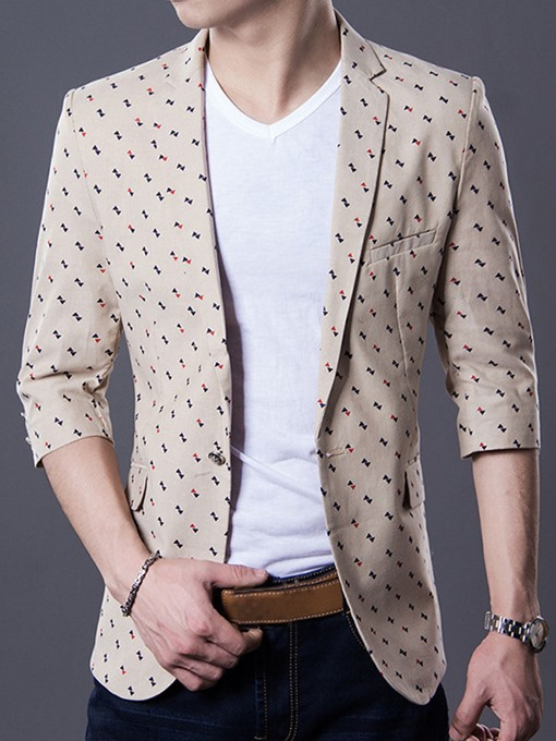 Thin Slim Fit Men's Leisure Blazer