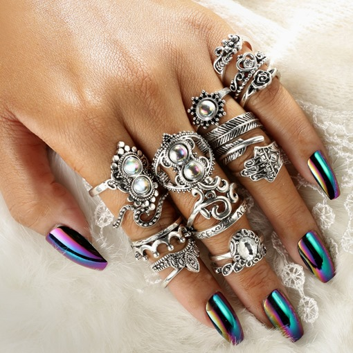 Ethnic Cat's Eye Vintage Ring Sets