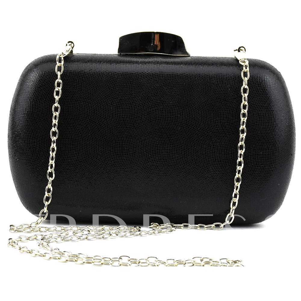 Luxury Style Plain Chain Big Capacity Clutch