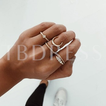 Popular Simple Alloy Ring Sets