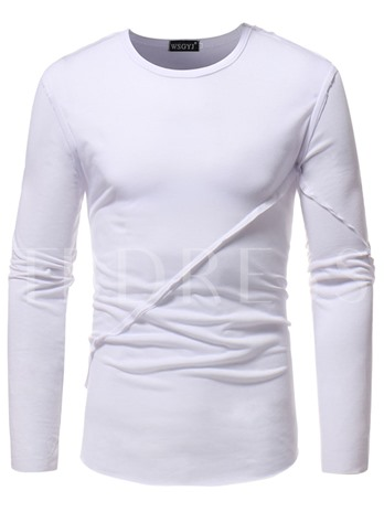 Plain Solid Color Leisure Men's T-Shirt
