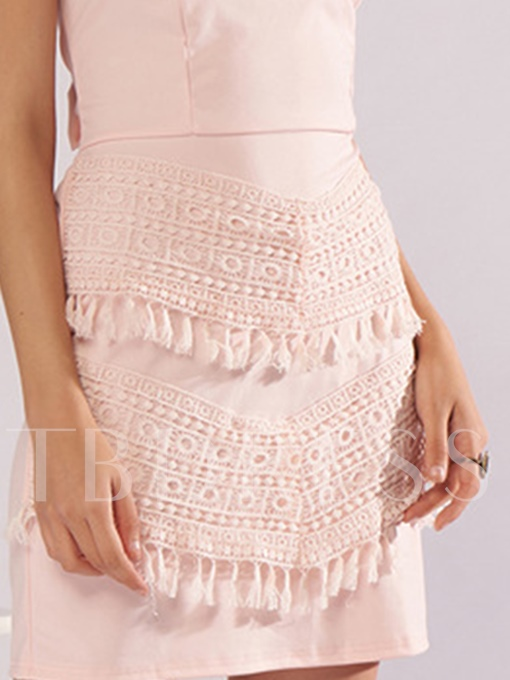 Summer Pink Off Shoulder Back Open Party Dress