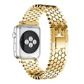 Apple Watch Band Metal Stainless Steel Chain Honeycomb Fish Scale