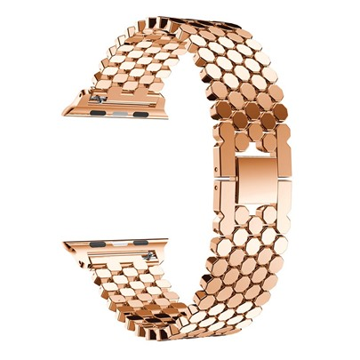 Apple Watch Band Metal Stainless Steel Chain Honeycomb Fish Scale Apple Watch Band Metal Stainless Steel Chain Honeycomb Fish Scale