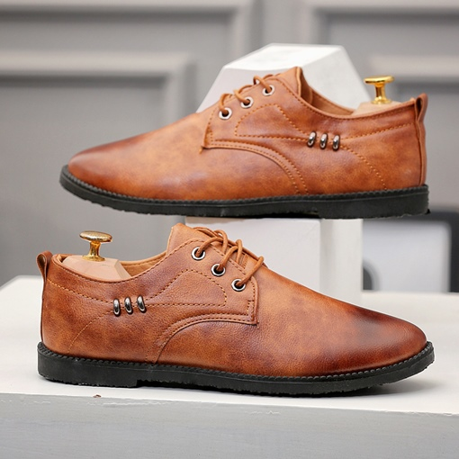 Brush Off Style Lace-Up Casual Shoes for Men