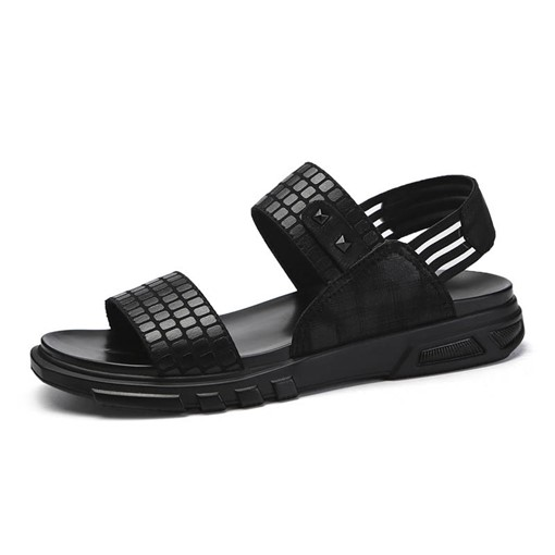 Rivet Open Toe Patchwork Sandals for Men