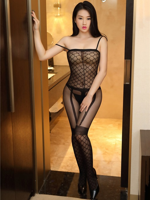 Sexy See-Through Fishnet Thin Pantyhose Body Stocking