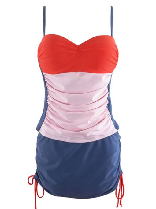 Color Block Fashion Off-shouder Monokini