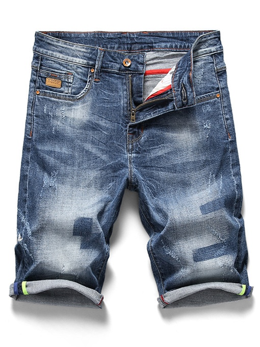 Summer Elastic Thin Slim Men's Short Jeans