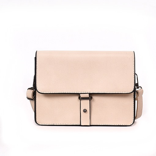 Modern Style Belt Decorated Crossbody Bag