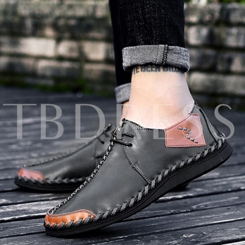 Lace Up Shoes Sewing Men's Fashion Loafers