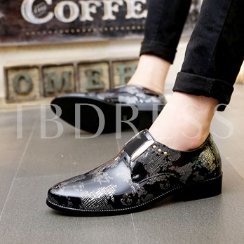 Round Toe Slip-On Low-Cut Upper Shoes for Men