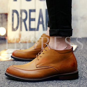High-Cut Upper Lace-Up Sewing Men's Shoes