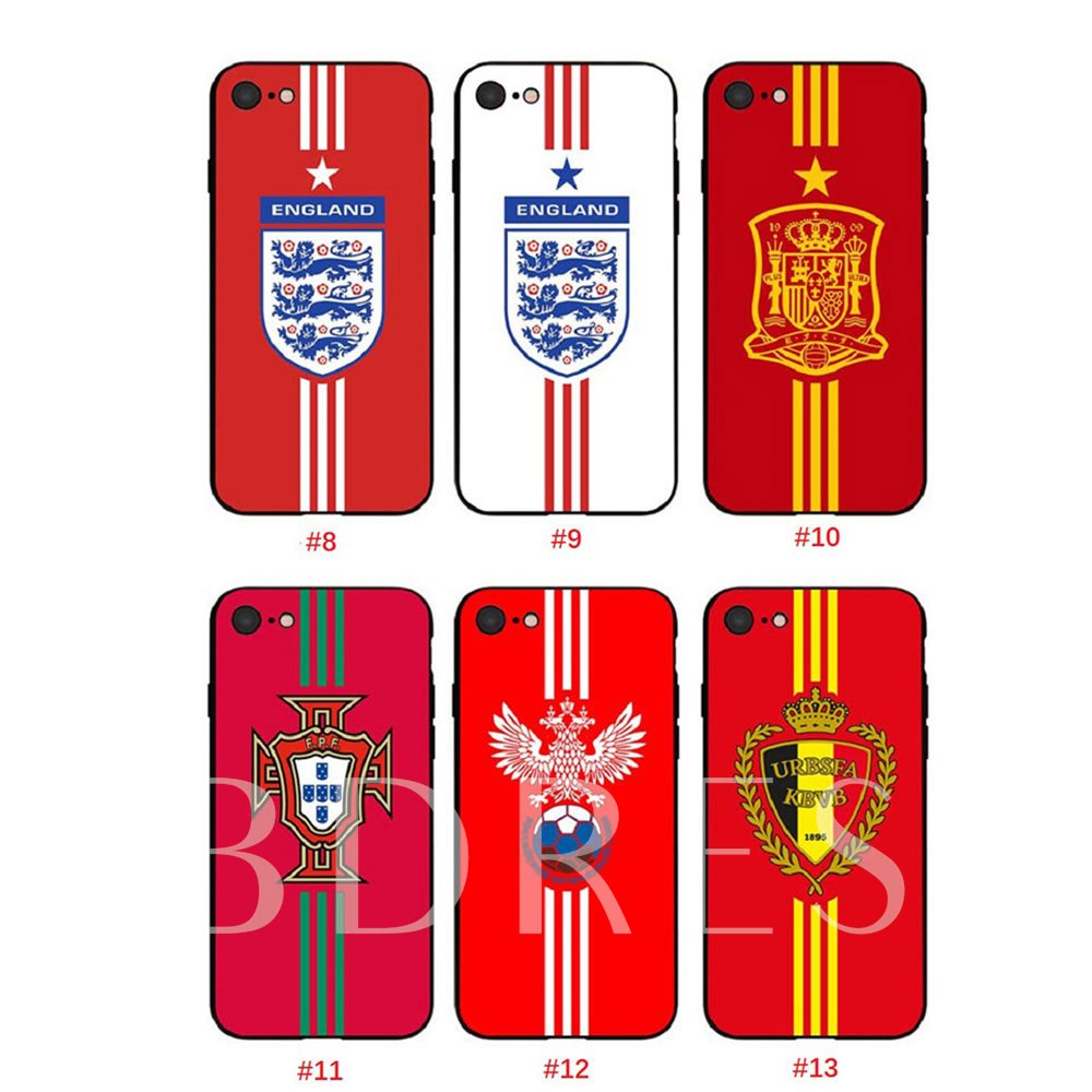 World Cup Mobile Shell iPhoneX/8/7/7P/6S for Brazil France Germany Italy