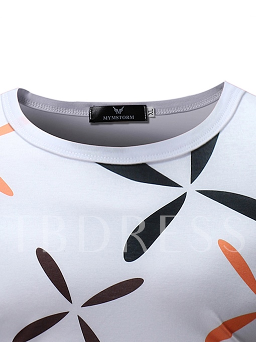 Windmill Print Slim Thin Men's T-Shirt