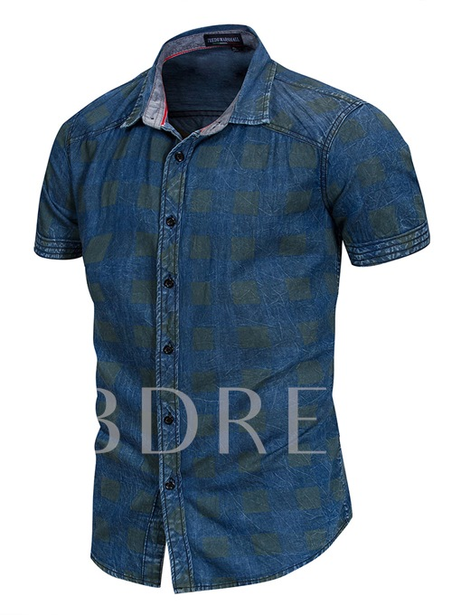 Lapel Cotton Leisure Men's Shirt