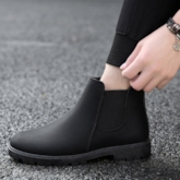 Round Toe Casual Slip-On Trendy Ankle Boots for Men