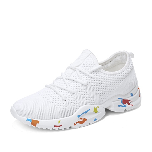 Round Toe Lace-Up Mesh Breathable Men's Trainers