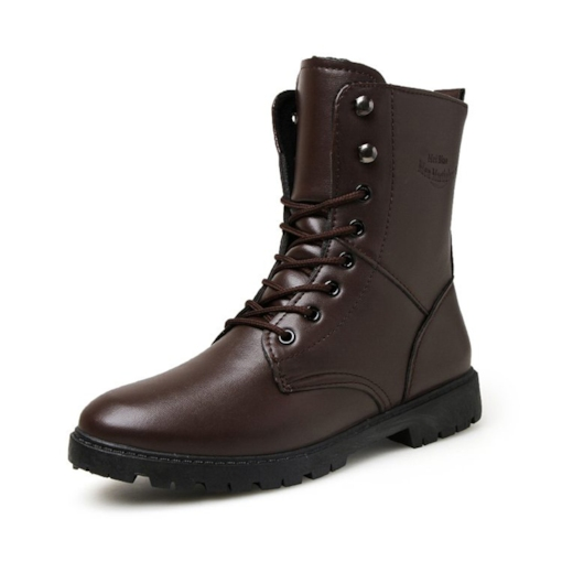 Mid-Calf Round Toe Lace-Up Chic Martin Boots for Men