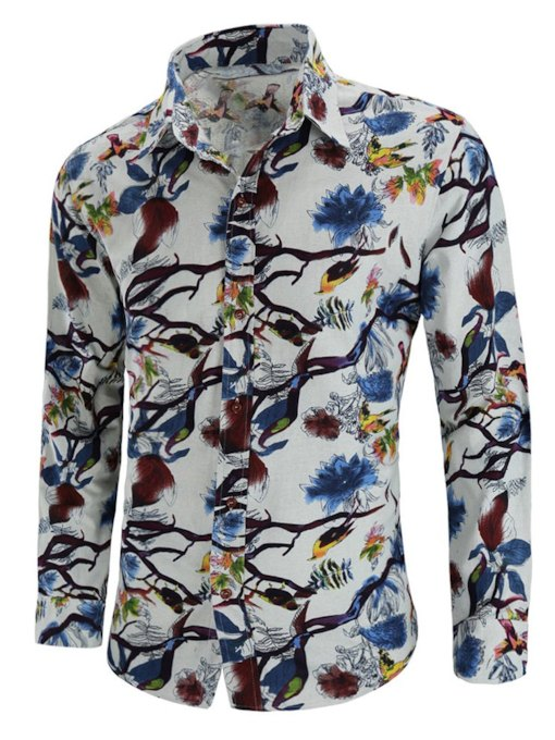 Chinese Style Lapel Slim Men's Shirt