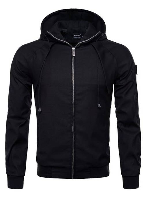Hoodie Zipper Cotton Slim Men's Jacket