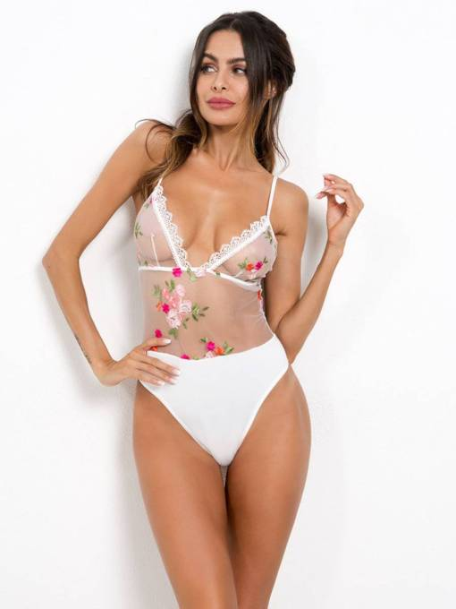Sexy Lingerie Lace Floral Embroidery Teddy