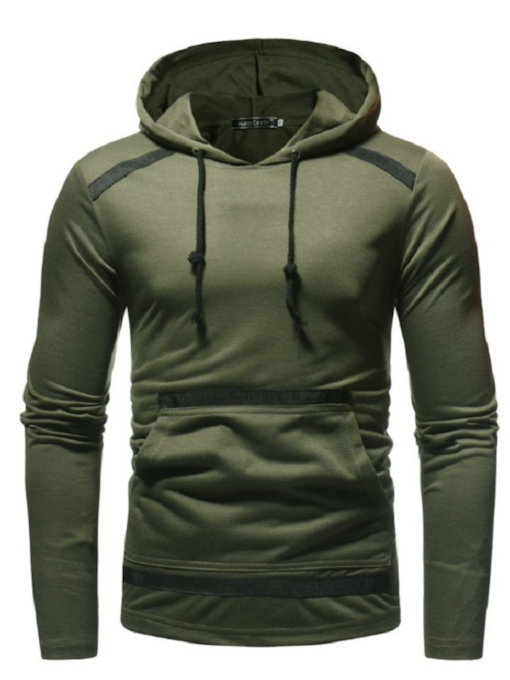 Solid Color Hooded Slim Men's Sweatshirt