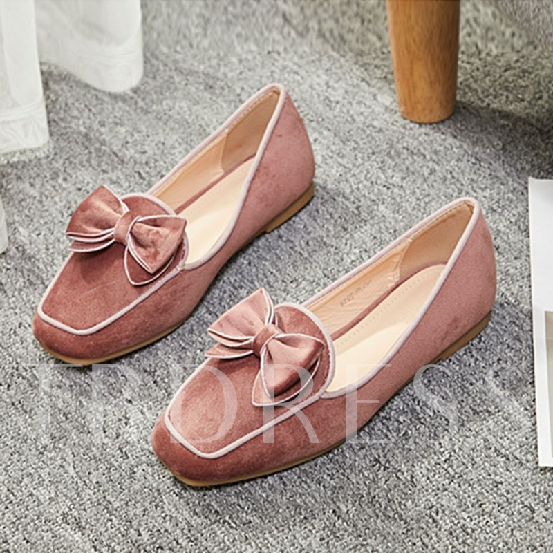 Buy Square Toe Block Heel Bowknot Slip-On Flats for Women, Spring,Summer,Fall, 13348726 for $28.89 in TBDress store