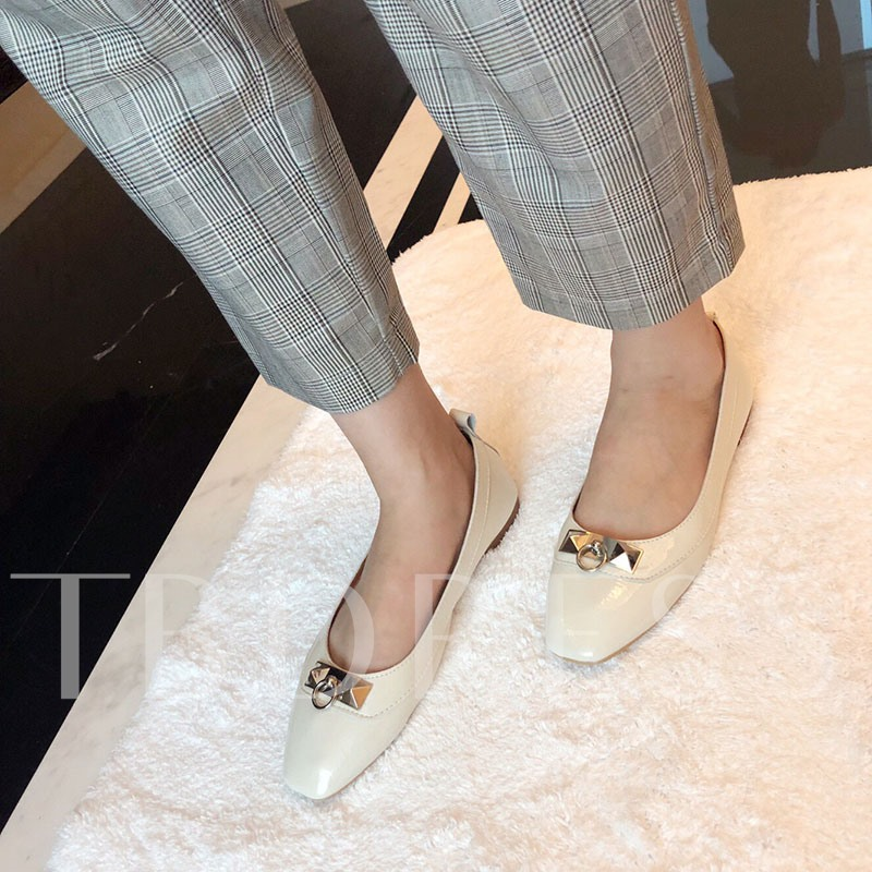Buy Low-Cut Square Toe Block Heel Casual Slip-On Women's Flats, Spring,Summer,Fall, 13348725 for $37.65 in TBDress store