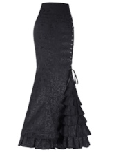 Floral Lace Patchwork Fishtail Women's Skirt