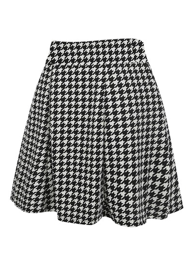 Plaid Polka DotPleated Women's Skirt
