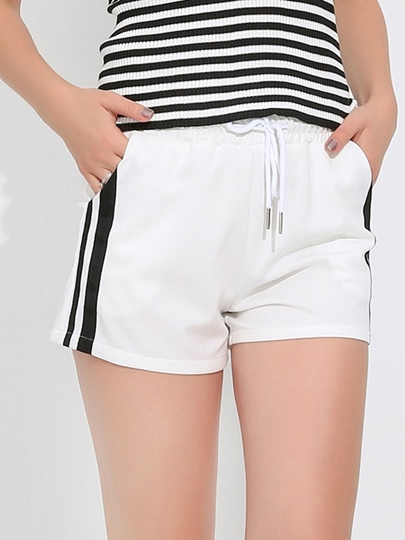 Elasticized Waist Wide Leg Women's Shorts