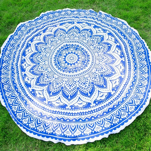 Ethnic Yoga Cushion Beach Towel