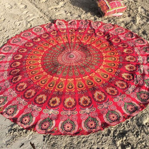 Bohemian Beach Towel Yoga Cushion