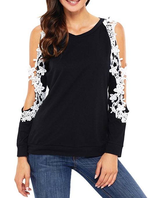 Loose Lace Patchwork Hollow Women's T-Shirt