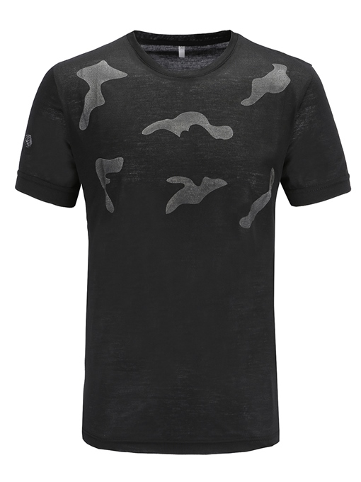 Camouflage Plain Slim Men's Summer T-Shirt