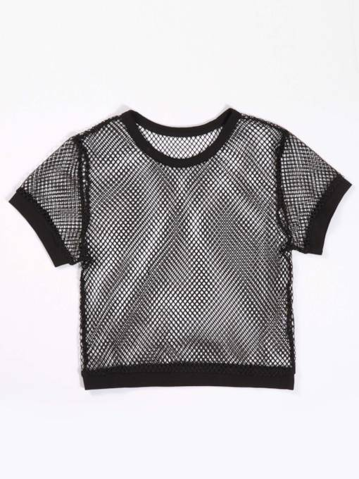 Sexy Fish Net Crop Top Women's T-Shirt