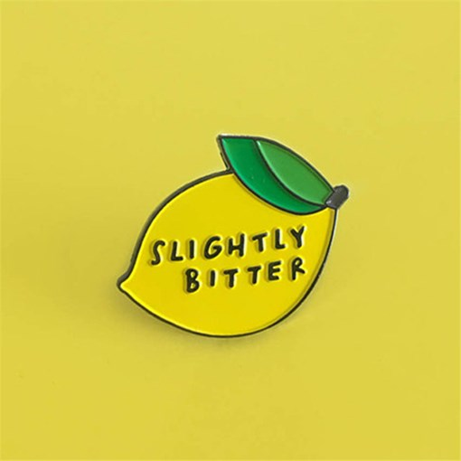 Bright Cartoon Lemon Pin Brooches