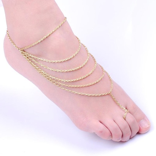 Popular Simple Multilayer Anklet