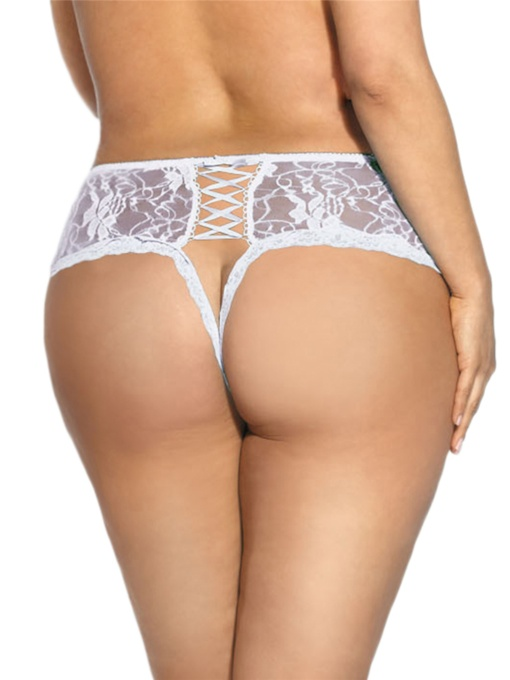 Sexy Floral Lace Open Crotch Panties