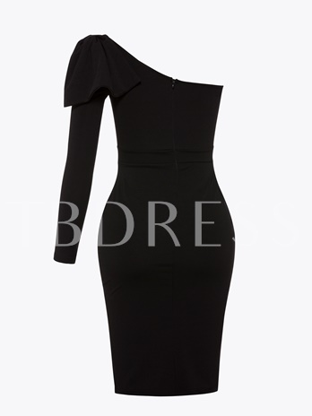 Black One Shoulder Bodycon Backless Dress