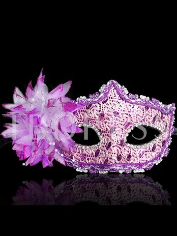 Women's Face Mask Halloween Lace Embroidery Sequins Eye Mask