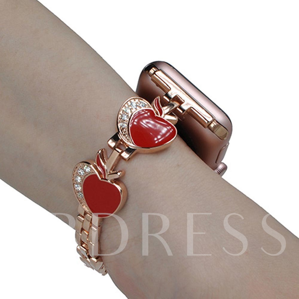 Heart-shaped Small Apple Metal Wrist band for Apple Watch