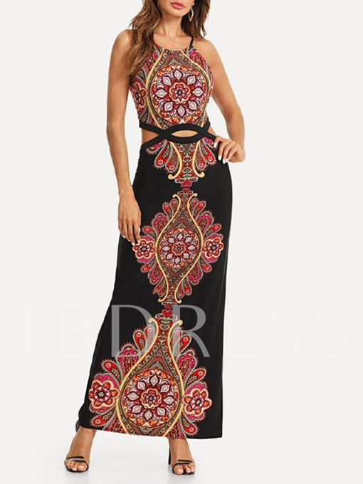 Sleeveless Double-Layered Women's Maxi Dress