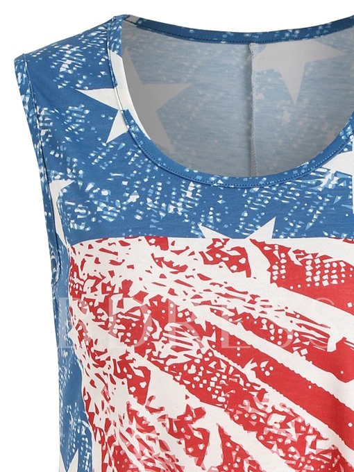 Independence Day American Flag Women's Tank Top